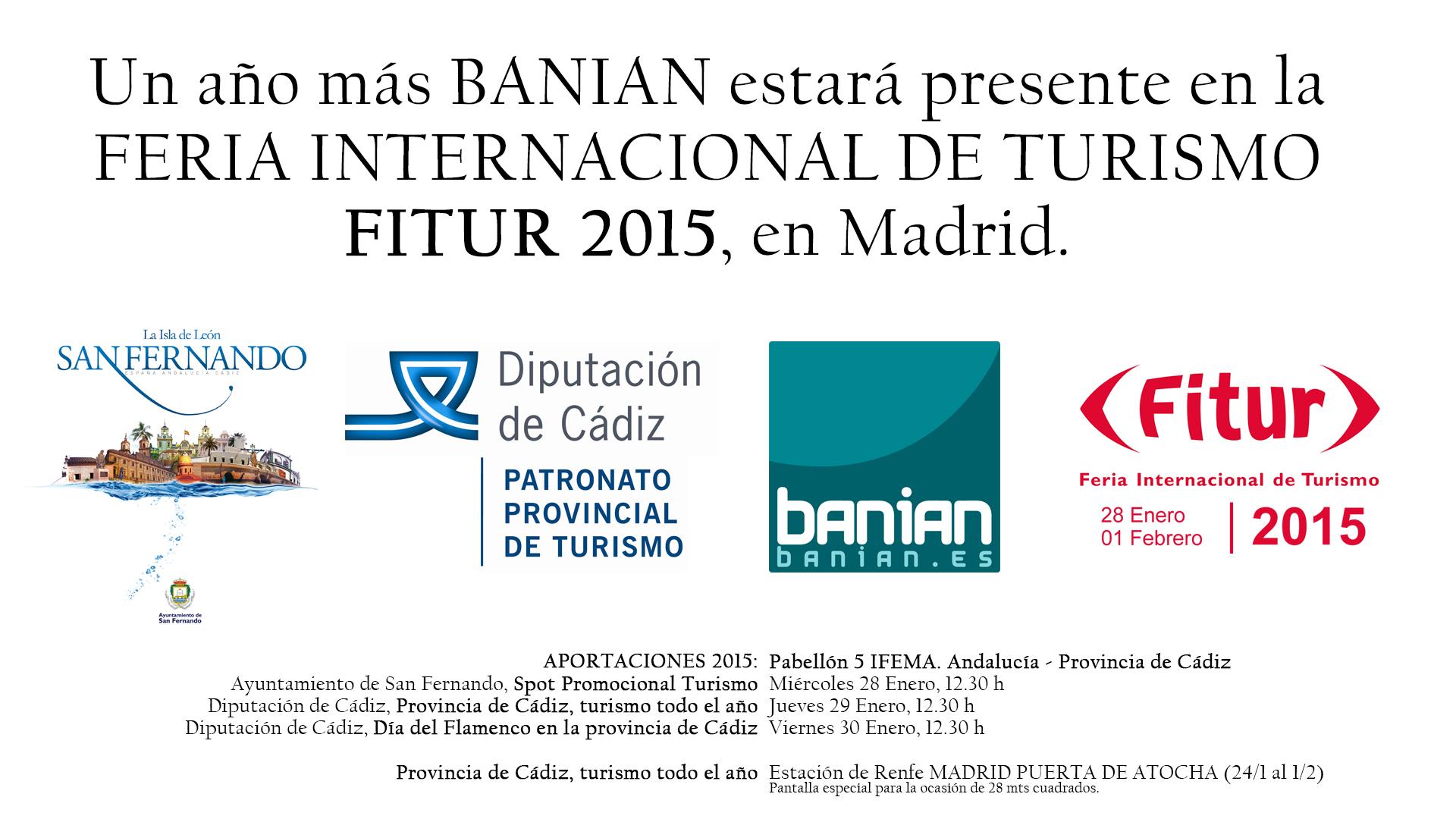 Fitur 2015 Banian Diputacion Cadiz Ayuntamiento San Fernando Turismo